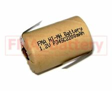2X Ni-MH 4/5 SC Sub C1.2V 2200MAH Battery for Power Tools Model Toys w/tabs US