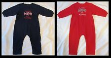 "ESPN One-Piece Outfit Red & Blue Lot Of 2 NEW 18 Months ""I Watch ESPN w My Daddy"