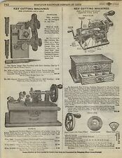 1923 Paper AD Harrison Corbin Precision Brand Key Cutting Machine