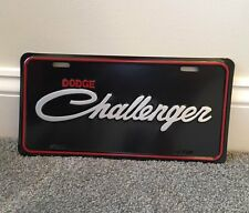 Mopar Dodge Challenger Retro License Plate Features DODGE CHALLENGER Script