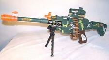 LIGHT UP COMBAT MACHINE GUN BATTERY OPERATED WITH SOUND military ammo toy TY348