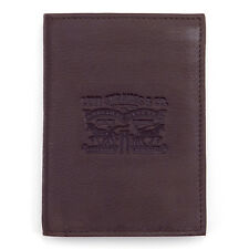 LEVI'S NEW Men's Premium Leather Wallet Brown BNWT