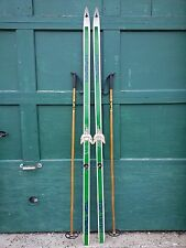 "Ready to Use Cross Country 75"" HAGAN 195 cm Skis +  Poles"