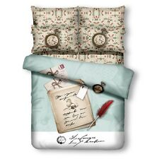 DM500T Guest & Dorm Duvet Cover Set Retro Style Twin XL Bedding by Dolce Mela