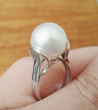 """Queen's Frock"" 12mm South Sea Pearl Ring, 14K Gold"