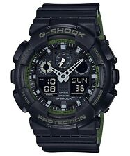 Brand New Casio G-Shock GA100L-1A Military 3-Eye Ana-Digi Green/Black Watch NWT!