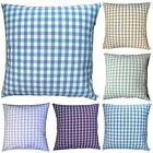 Cushion Covers Laura Ashley Gingham Fabric Handmade Blue Red Beige Pink Scatter
