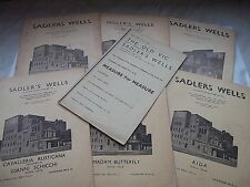 Collection Of Sadlers Wells / The Old Vic Programmes From The 1930's