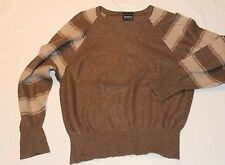 TB0069 März München Herren Woll Strick Pullover Strickpullover Wolle BRAUN 44