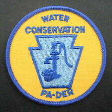 """WATER CONSERVATION EMBROIDERED SEW ON PATCH PA DER PENNSYLVANIA  3"""""""