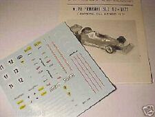 FERRARI 312 T2 F1 1977 CAMPIONE DEL MONDO DECAL 1/43