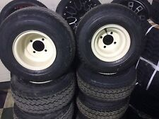 Set Of 4 RIMS &TIRES for golf Cart Brand new Ready To Mount