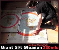GIANT (60x40 inch) FLAT EARTH GLEASON'S NEW STANDARD MAP OF WORLD 1892 (152cm)