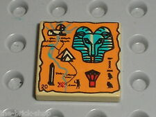 LEGO Egypte Tan Tile with Hieroglyphs ref 3068bpx21 / Set 5928 5978 2995 5958...