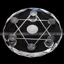 7 Star Plate Asian Quartz Crystal Healing Ball Sphere Stand Without Ball A073