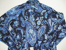 POLO RALPH LAUREN Men's Custom-Fit Paisley Estate Linen Sport Shirt S