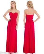Goddess-Goddiva Long Grecian Strapless Evening Party Prom Maxi Dress Bridemaid