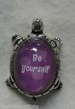 m be yourself TURTLE CHARM FIGURINE Ganz confidence Message encouragement