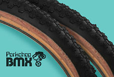 "Kenda Comp 3 III old school BMX skinwall gumwall tires 20"" X 1.75"" BLACK (PAIR)"