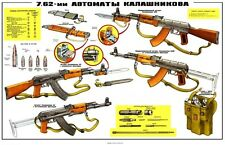 3 COLOR Poster Collection! AK-47, AKM, Kalashnikov 7.62x39 Soviet Russian BUY IT