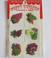 Vintage Marukai Scratch and Sniff Grape Puffy Sticker Sheet Package -