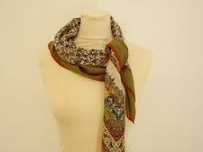 JEAN JACQUES SILK FOULARD SETA SCARF MADE IN ITALY  X974
