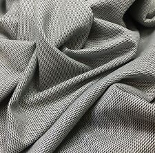 Black & White Geometric WOOL Blend Suiting Fabric  -By The Yard- 61""