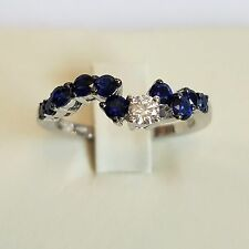Salvini 18 kt White Gold Ring Diamonds/Sapphires New! Final Sale !!MSRP  $3,300