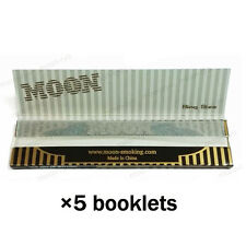 5×32 sheets 108mm King Size Slim Moon Gold Cigarette Rolling Papers 160 leaves