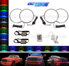 06-08 Dodge Ram Sport Multi-Color Changing Shift LED RGB Headlight Halo Ring Set