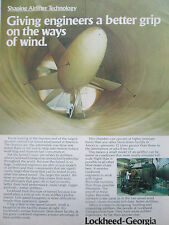 7/1980 PUB LOCKHEED SHAPING AIRLIFTER TECHNOLOGY WIND TUNNEL SOUFFLERIE AD