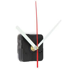 DIY Negro Cuarzo Reloj Movimiento con Agujas Maquinaria Plástico Metal Mecanismo