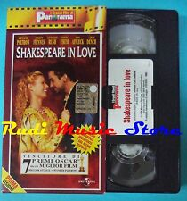 VHS film SHAKESPEARE IN LOVE 1998 Paltrow Fiennes Afflek PANORAMA (FP3) *no dvd