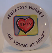 PEDIATRIC NURSE BUTTON PERSONALIZED - NEW FUN UNIQUE NURSES AND MEDICAL GIFTS