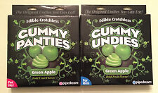 2 Pair Edible Crotchless Gummy Panties Green Apple His & Hers Hot Sexy BDay Gift
