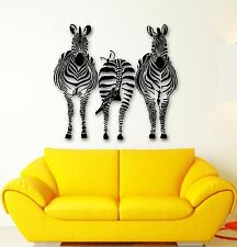 Wall Sticker Vinyl Decal Zebra African Animal Room Decor (ig563)