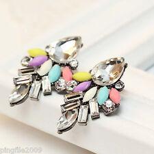 """Hot Handmade New Design Multi Color Bling Rainbow Stud Earring 1 7/16"""" 268"""