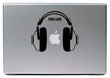 "Apple MacBook Air Pro 13"" DJ AURICULAR Juego Verdadero Amor Adhesivo Forro Decal"