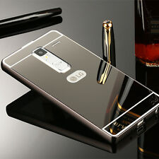 Luxury Metal Aluminum Frame Bumper Case + PC Mirror Back Cover Skin For LG Phone