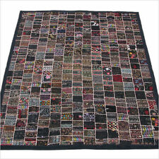 Black Queen Patchwork Indian Bedspread Bedding Bed cover Duvet Cover Tapestry