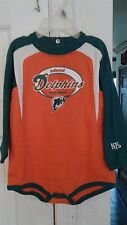 Vintage NFL Miami Dolphins Embroidered Orange 24 month r Onesie Bodysuit - NWOT