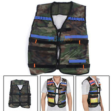 Adjustable Tactical Vest Jacket W/ Storage Pockets for Nerf N-Strike Army Green