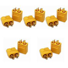 20Pcs/10Pairs XT60 Male and Female Bullet Connectors Plugs for RC Lipo Battery J