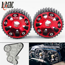 CAM GEARS Pulley KIT for HONDA CIVIC B16A B18C INTEGRA DC2 88-00 2PCS RED