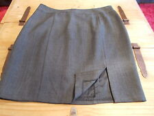 "bnwt size 20 smart grey 23"" long lined  pencil skirt with front side split"