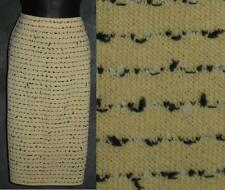 NWT Beautiful St John collection knit butter yellow black skirt size 12 NEW
