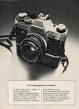 Publicité 1977  Appareil photo CANON AE 1
