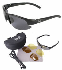 Polarised BIKER SUNGLASSES: Moto Eyewear For Men & Women. Interchangeable Lenses