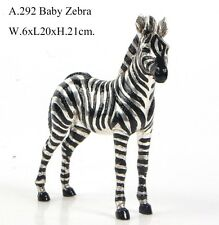 BRONZE SCULPTURE AFRICAN BABY ZEBRA ART DECO STATUE FIGURINE FIGURE DECOR
