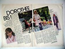 COUPURE DE PRESSE-CLIPPING : DOROTHEE [2pages] 07-08/1980 Pile ou Face